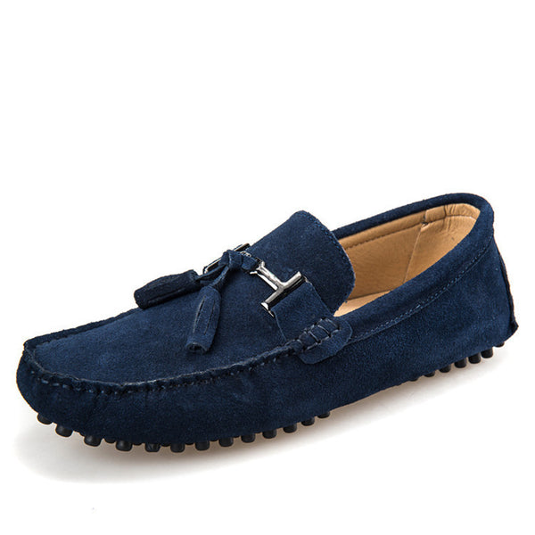 New colors Genuine Leather men flat shoes Brand Moccasins men loafers driving Peas Shoes Fashion Casual shoes hot sell - Hespirides Gifts - 4