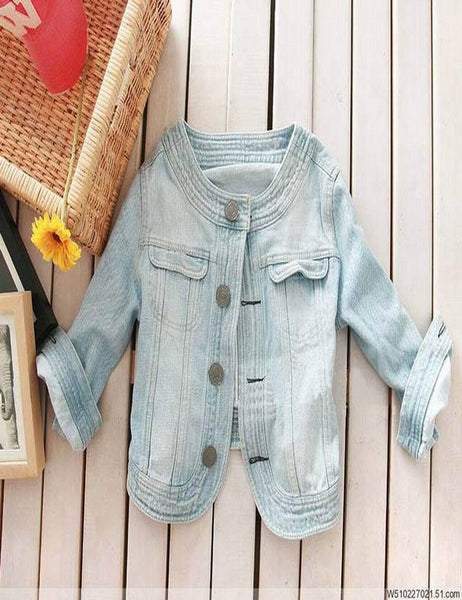 New Arrival Womens Denim Jacket Outwear Jeans Coat Classical Roupas Feminina Fashion Causal Jeans Coats Rivets Short Jacket - Hespirides Gifts - 2