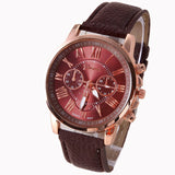 NEW Best Quality Geneva Platinum Watch Women PU Leather wristwatch casual dress watch reloj ladies gold gift Fashion Roman - Hespirides Gifts - 6