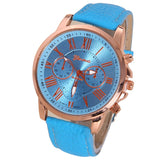 NEW Best Quality Geneva Platinum Watch Women PU Leather wristwatch casual dress watch reloj ladies gold gift Fashion Roman - Hespirides Gifts - 13