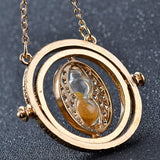 Hot Sale Harry Potter Time Turner Necklace Hermione Granger Rotating Spins Gold Hourglass XL001 - Hespirides Gifts - 10