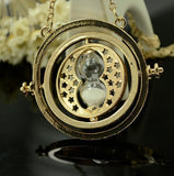 Hot Sale Harry Potter Time Turner Necklace Hermione Granger Rotating Spins Gold Hourglass XL001 - Hespirides Gifts - 6