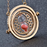 Hot Sale Harry Potter Time Turner Necklace Hermione Granger Rotating Spins Gold Hourglass XL001 - Hespirides Gifts - 8