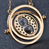 Hot Sale Harry Potter Time Turner Necklace Hermione Granger Rotating Spins Gold Hourglass XL001 - Hespirides Gifts - 7