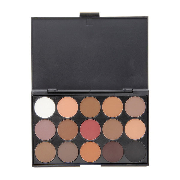 New fashion 15 Earth Color Matte Pigment Eyeshadow Palette Cosmetic Makeup Eye Shadow for women Top Quality - Hespirides Gifts - 2