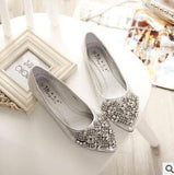 NEW Fashion Flats Shoes Women Ballet Princess Shoes For Casual Crystal Boat Shoes Rhinestone Women Flats PLUS Size - Hespirides Gifts - 2