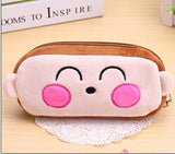 Kawaii Cartoon Animal Large Capacity Plush Pencil Holder Storage Pouch Cosmetic Bag Promotional Gift Stationery - Hespirides Gifts - 7