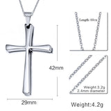 Meaeguet Cross Necklaces&Pendants For Men Stainless Steel 18K Gold Plated Male Pendant Necklaces Prayer Jewelry - Hespirides Gifts - 6