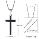 Meaeguet Cross Necklaces&Pendants For Men Stainless Steel 18K Gold Plated Male Pendant Necklaces Prayer Jewelry - Hespirides Gifts - 3