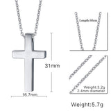 Meaeguet Cross Necklaces&Pendants For Men Stainless Steel 18K Gold Plated Male Pendant Necklaces Prayer Jewelry - Hespirides Gifts - 5