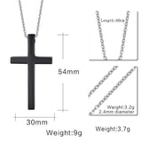 Meaeguet Cross Necklaces&Pendants For Men Stainless Steel 18K Gold Plated Male Pendant Necklaces Prayer Jewelry - Hespirides Gifts - 7