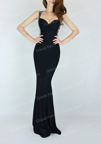 Evening Dress Grace Karin Women cheap Backless Blue Red Slim-line Sexy Bodycon Party Long Black Formal Gown Mermaid Dresses - Hespirides Gifts - 6