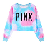 WAIBO BEAR New Fashion Women Crop Sweatshirts Kawaii Harajuku Style Loose Crop Hoodies Female Short Love Pink Sweatshirt - Hespirides Gifts - 3