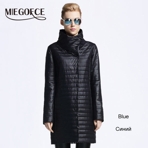 MIEGOFCE New spring jacket women winter coat women's clothing warm outwear Cotton-Padded long Jacket coat Slim trench coat - Hespirides Gifts - 7