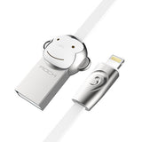 ROCK Zinc Alloy Monkey Lightning to USB cable for iPhone iPad Usb cable for iPhone 6 6s 5s - Hespirides Gifts - 4