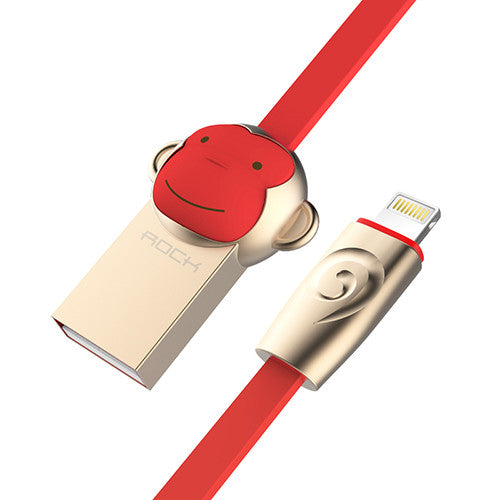 ROCK Zinc Alloy Monkey Lightning to USB cable for iPhone iPad Usb cable for iPhone 6 6s 5s - Hespirides Gifts - 3