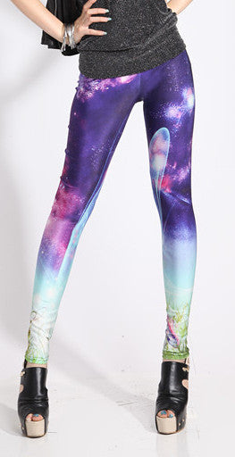 Qickitout Leggings Hot Fashion Women Starry Sky Print Leggings Sexy Show Slim Pants Wear Comfortable Pencil pants - Hespirides Gifts