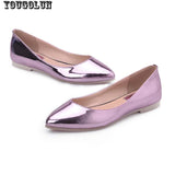 YOUGOLUN Women Loafers Shoes Elegant Women Flats Ladies Casual Flat Shoes Fashion Woman Pointed toe Sky Blue Silver Purple Shoes - Hespirides Gifts - 5