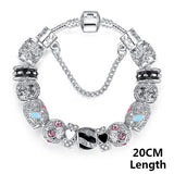Bracelets For Women Silver Crystal Beads Bracelet Snake Chain Charms Bracelets Fit Original Bracelet Bangle Authentic Jewelry 49 - Hespirides Gifts - 15