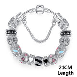 Bracelets For Women Silver Crystal Beads Bracelet Snake Chain Charms Bracelets Fit Original Bracelet Bangle Authentic Jewelry 49 - Hespirides Gifts - 7