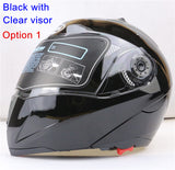 New Arrivals Best Sales Safe Flip Up Motorcycle Helmet With Inner Sun Visor Everybody Affordable Double Lens Motorbike Helmet - Hespirides Gifts - 13