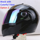 New Arrivals Best Sales Safe Flip Up Motorcycle Helmet With Inner Sun Visor Everybody Affordable Double Lens Motorbike Helmet - Hespirides Gifts - 14