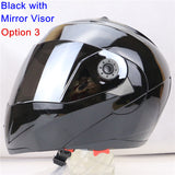New Arrivals Best Sales Safe Flip Up Motorcycle Helmet With Inner Sun Visor Everybody Affordable Double Lens Motorbike Helmet - Hespirides Gifts - 23