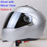 New Arrivals Best Sales Safe Flip Up Motorcycle Helmet With Inner Sun Visor Everybody Affordable Double Lens Motorbike Helmet - Hespirides Gifts - 4