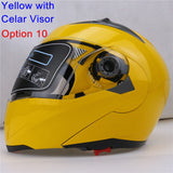 New Arrivals Best Sales Safe Flip Up Motorcycle Helmet With Inner Sun Visor Everybody Affordable Double Lens Motorbike Helmet - Hespirides Gifts - 6