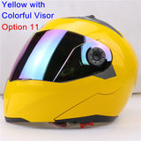 New Arrivals Best Sales Safe Flip Up Motorcycle Helmet With Inner Sun Visor Everybody Affordable Double Lens Motorbike Helmet - Hespirides Gifts - 10