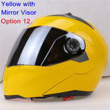 New Arrivals Best Sales Safe Flip Up Motorcycle Helmet With Inner Sun Visor Everybody Affordable Double Lens Motorbike Helmet - Hespirides Gifts - 12