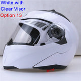 New Arrivals Best Sales Safe Flip Up Motorcycle Helmet With Inner Sun Visor Everybody Affordable Double Lens Motorbike Helmet - Hespirides Gifts - 15
