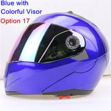New Arrivals Best Sales Safe Flip Up Motorcycle Helmet With Inner Sun Visor Everybody Affordable Double Lens Motorbike Helmet - Hespirides Gifts - 7