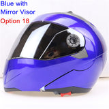 New Arrivals Best Sales Safe Flip Up Motorcycle Helmet With Inner Sun Visor Everybody Affordable Double Lens Motorbike Helmet - Hespirides Gifts - 8
