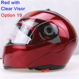 New Arrivals Best Sales Safe Flip Up Motorcycle Helmet With Inner Sun Visor Everybody Affordable Double Lens Motorbike Helmet - Hespirides Gifts - 5