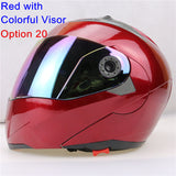 New Arrivals Best Sales Safe Flip Up Motorcycle Helmet With Inner Sun Visor Everybody Affordable Double Lens Motorbike Helmet - Hespirides Gifts - 20