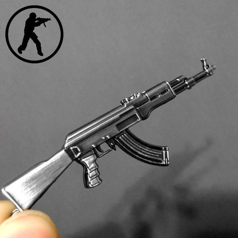Novelty Items Counter Strike AK47 Guns Keychain Trinket Awp Rifle Sniper Key Chain Key Ring Jewelry Souvenirs Gift Men Llaveros - Hespirides Gifts - 1