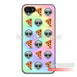 Tie Dye Alien Pizza Emoji Case For iPhone 6 6 Plus 5 5s 5c 4 4s iPod 5 Funny Classic Protective Cases Drop Ship Wholesale - Hespirides Gifts - 1