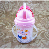 Updated Durable Baby diaper Kids Straw Cup Drinking Bottle Sippy Cups With handles Cute Design Feeding Bottle PP Plastic SGS - Hespirides Gifts - 4