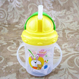 Updated Durable Baby diaper Kids Straw Cup Drinking Bottle Sippy Cups With handles Cute Design Feeding Bottle PP Plastic SGS - Hespirides Gifts - 3