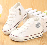 Spring autumn Children shoes girls high child canvas shoes boys child girls single shoes cotton-made white shoes 20 size - Hespirides Gifts - 1