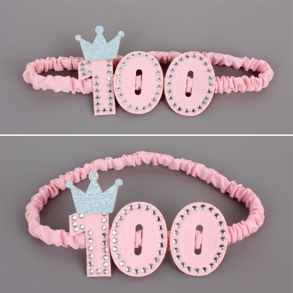 Handmade Infant Newborn 100 days Crown with Pretty Flowers Headbands Slim Hairband For Baby Girls Party DIY Hair Accessories - Hespirides Gifts