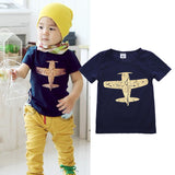 Newest Summer Baby Boy T-shirt Kids Short Sleeve Fighter Printing Blue T-shirt Tops Toddler Summer Clothes For Brave Boys - Hespirides Gifts - 1