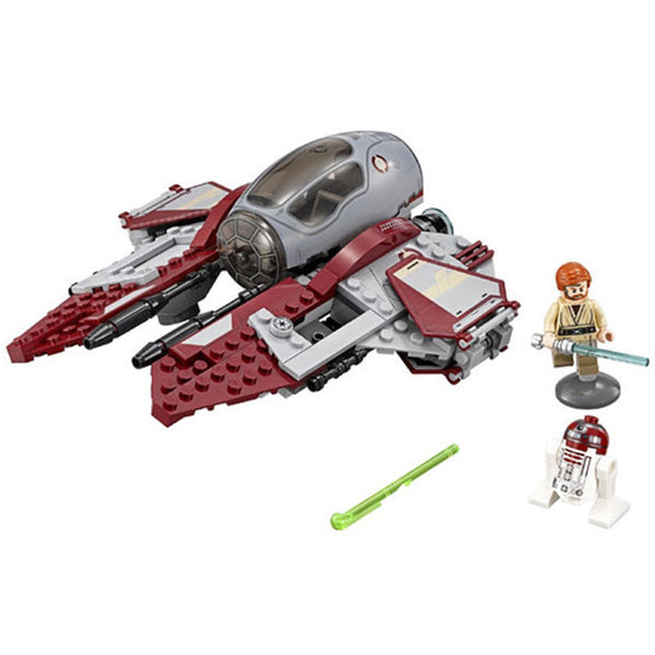 New LEPIN 227Pcs Star Wars Obi-Wans Jedi Interceptor Minifigures Building Blocks Sets Toys Gifts Compatible with Lego 75135 - Hespirides Gifts