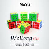 NEW Brand MoYu 3x3x3 Weilong GTS Magic Cube Stickerless Professional Puzzle Speed Cube Classic Toys 3*3*3 Cube WeilongGTS - Hespirides Gifts - 1