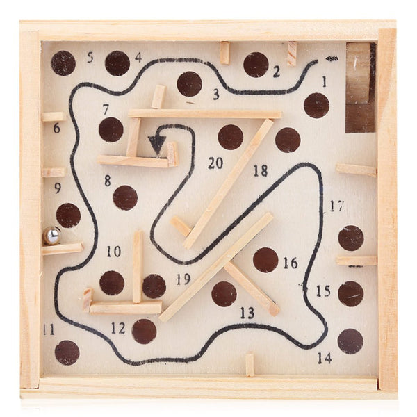 Puzzle Wooden Toy Labyrinth Board Kids Solitaire Game Children Education Learning Intelligence Game Classic Maze Balance Board - Hespirides Gifts