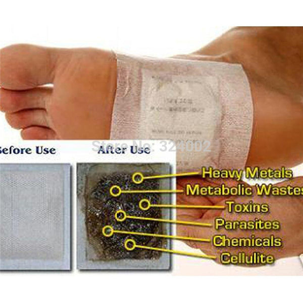 Kinoki Detox Foot Patches with Adhesive Foot care Bamboo Pads Stickers Improve health beauty Sleep Slimming health 10pcs - Hespirides Gifts