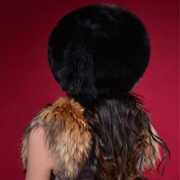 Fashion Warm Winter Tail Beanie Beret Cap Women Faux Fur Ear Earflap Hat - Hespirides Gifts - 3
