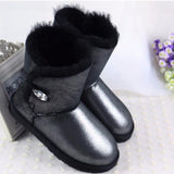High Quality! genuine Sheepskin Real Fur 100% Wool women winter snow boots, China Brand boots - Hespirides Gifts - 3