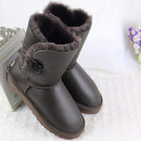 High Quality! genuine Sheepskin Real Fur 100% Wool women winter snow boots, China Brand boots - Hespirides Gifts - 6